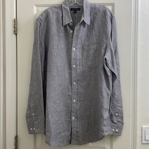 Banana Republic gray linen button up size large